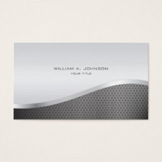 Silver Metallic Professional Business Card
