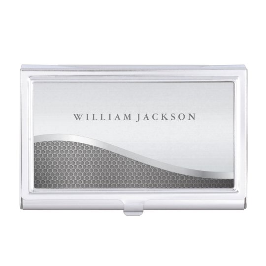 Silver Metallic Professional Business Card Holders