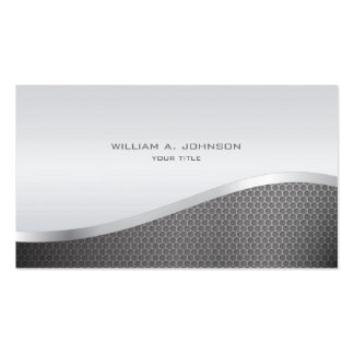 Silver Metallic Professional Pack Of Standard Business Cards
