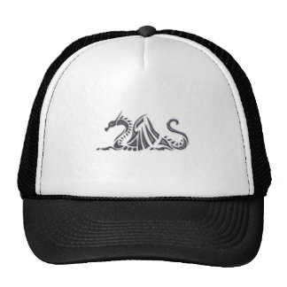 Silver Metallic Sea Dragon Trucker Hat
