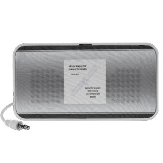 Silver metallic speaker template