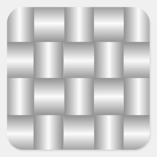 Silver Metallic Weave Sticker
