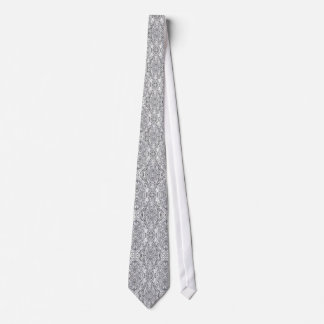 Silver Metallic Wedding Neck Tie