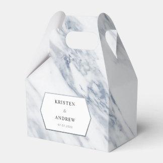 Silver Modern | Marble Wedding Favor Box