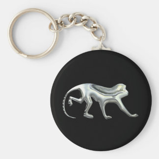 Silver Monkey Keychain