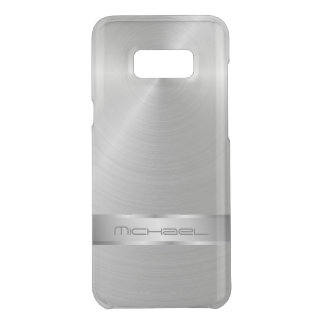 Silver Monogram Bling Uncommon Samsung Galaxy S8 Plus Case