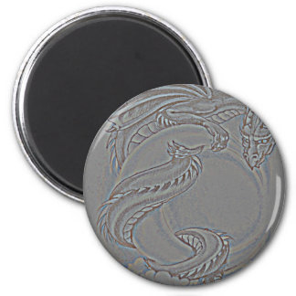 Silver Moon Dragon Magnet