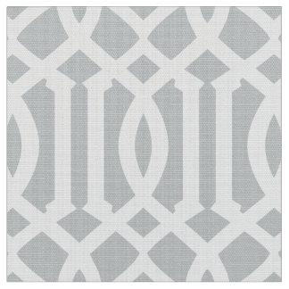 Silver Moroccan Pattern | Fabric