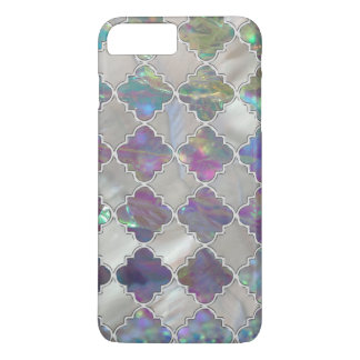 Silver moroccan pattern pearl and rose shell iPhone 8 plus/7 plus case