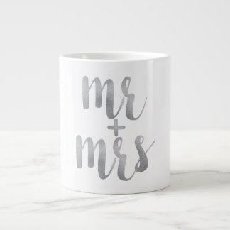 Silver mr. & mrs. coffee mug