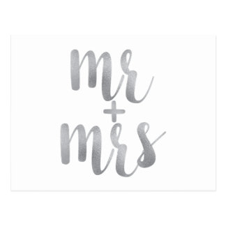 Silver mr. & mrs. postcards