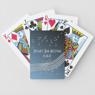 Silver Music Bar Mitzvah Bicycle Playing Cards
