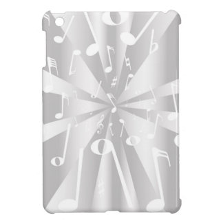 Silver Musical Notes Background Case For The iPad Mini