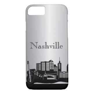Silver Nashville Silhouette Phone Cases