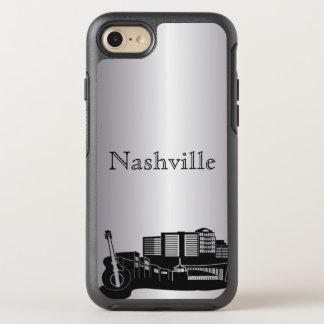 Silver Nashville Skyline Silhouette Case