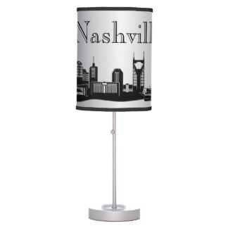 Silver Nashville Skyline Silhouette Lamp
