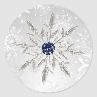 silver navy snowflakes winter wedding stickers