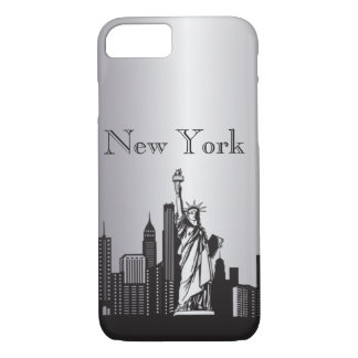 Silver New York Silhouette Phone & Ipad Cases