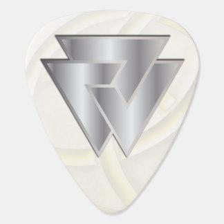 Silver Norse Valknut Symbol 2 - Guitar Pic Guitar Pick