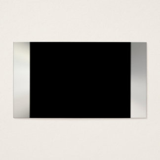Silver On Black Business Cards