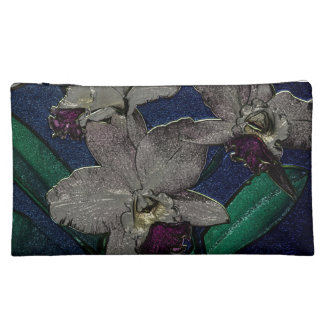 Silver Orchid Cosmetic Bag