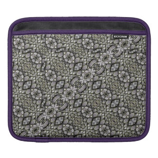 Silver Oriental Ornate iPad Sleeve