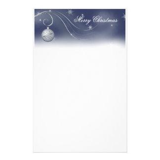 Silver Ornament Christmas Stationery