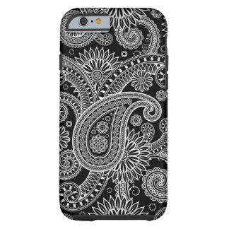 Silver Paisley iPhone 6 case