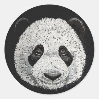 Silver Panda Classic Round Sticker