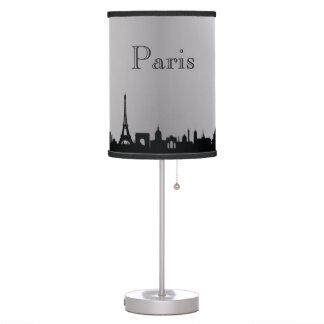 Silver Paris Skyline Silhouette Lamp