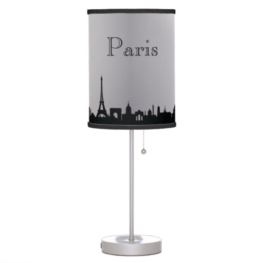 Silver Paris Skyline Silhouette Lamp
