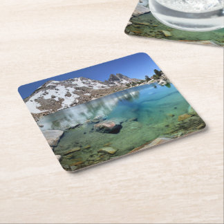 Silver Pass Tarn - Johm Muir Trail Square Paper Coaster