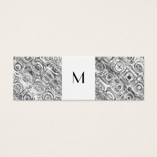 Silver Pattern Monogram Calling Card