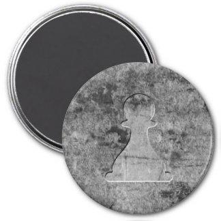Silver Pawn - Zero Gravity Chess (Metal E) 3 Inch Round Magnet