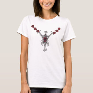 "Silver ""pendent"" with rubies t-shirt"