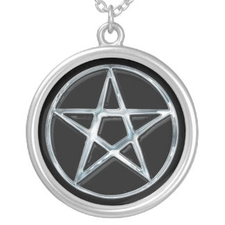 Silver Pentacle Pagan Symbol Pendant