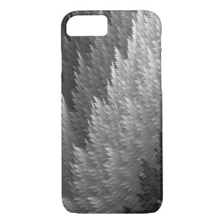 Silver Pewter Grey Tan Tartan Feather Pattern Case