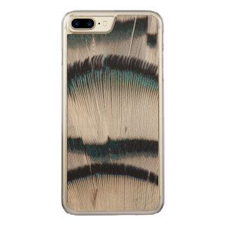 Silver Pheasant feathers Carved iPhone 7 Plus Case