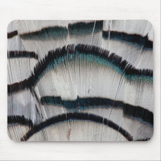 Silver Pheasant feathers Mouse Pad