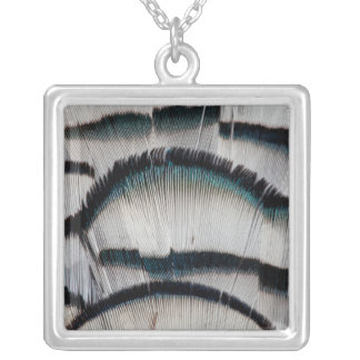 Silver Pheasant feathers Silver Plated Necklace