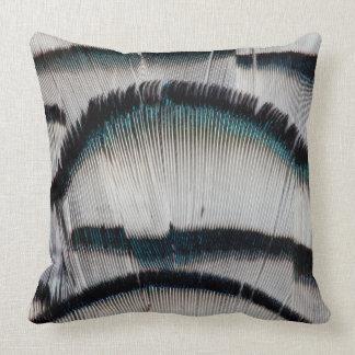 Silver Pheasant feathers Throw Pillow