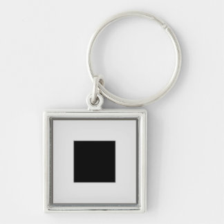 silver picture frame layout Silver-Colored square keychain