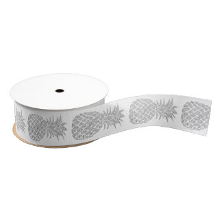 silver pineapples grosgrain ribbon
