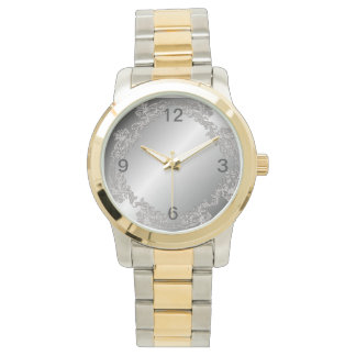 silver-plated design wrist watches