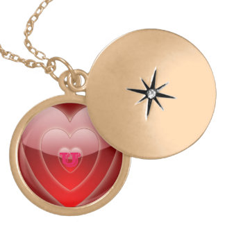 Silver Plated Gold-Finish  Round Locket