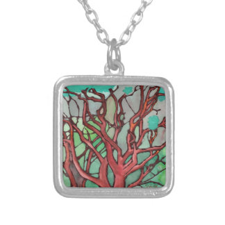 Silver Plated Necklace - Manzanita Thicket