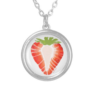 Silver Plated Necklace - Strawberry Secret