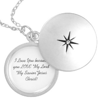 Silver Plated Round Locket: I Love You Locket Necklace