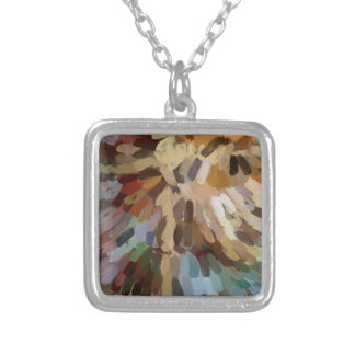 Silver Plated Square Necklace - TREE OF LIFE