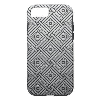 Silver Platinum Geometric iPhone 8/7 Case